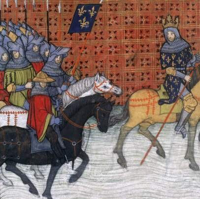Difficultées sur le XIII ème siècle philippe-auguste-traversant-la-loire-en-12141