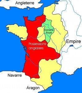 carte de la France en 1154