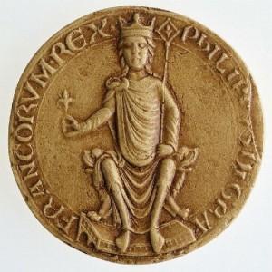 sceau royal de Philippe II dit Auguste