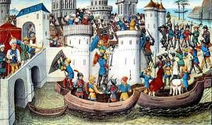 4 ème croisade - conquête de Constantinople en 1204