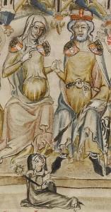 Berthold IV comted'Andrech et Duc de Méranie son épouse Agnès de Rochlitz et sa fille Agnès de Méranie