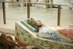 Gisant de Richard à l'abbaye de Fontevreau