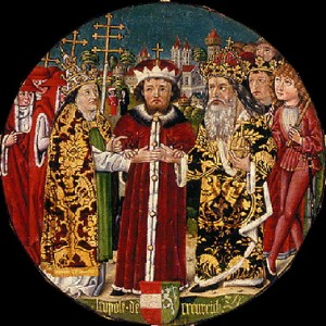 L'évêque de Vérone envoyé à Léopold V duc d'autriche pour signifier l'excommunication