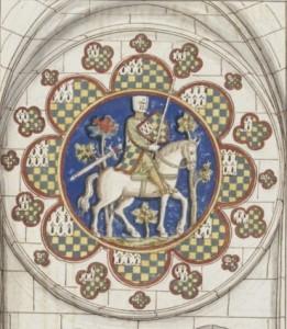 Pierre Maucler représenté sur un vitrail de la cathédrale de Chartres