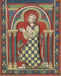 Pierre 1er représenté sur un vitrail de la cathédrale de Chartres  01