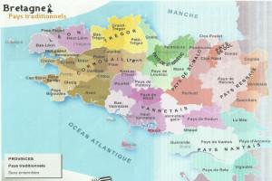 carte des régions de Bretagne sous les Ducs de Bretagne 01 bis