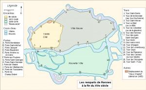 Plan des Remparts à la fin du XVème siécle